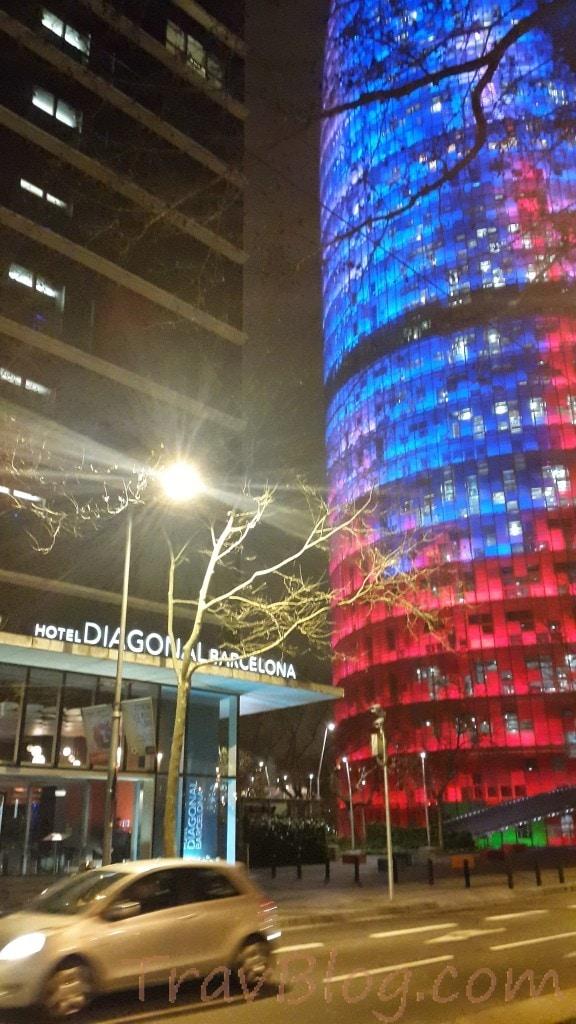 Torre Agbar- Hotel Diagonal Barcelona