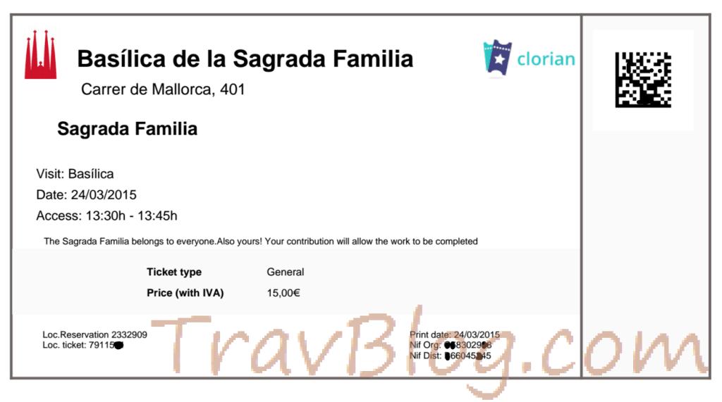 La Sagrada Familia- Ticket