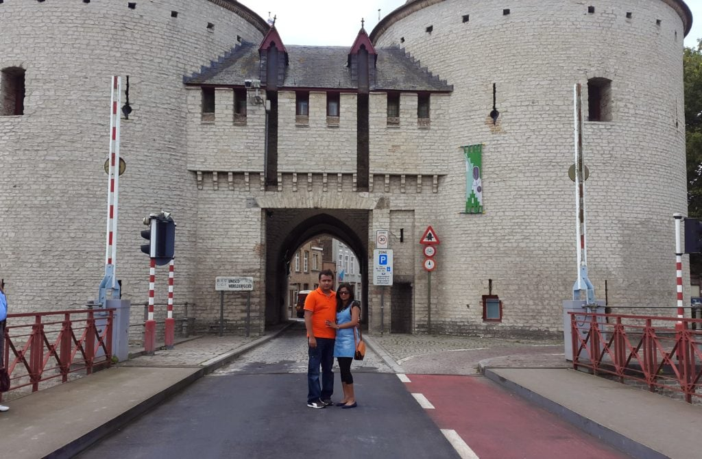 Kruispoort town gate , Bruges
