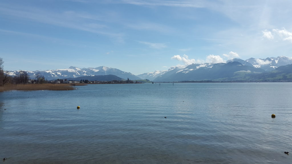Rapperswil Harbour and Lake Zurich