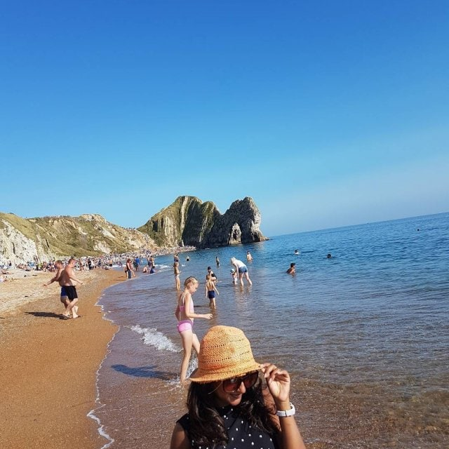 This place every summer!! durdledoor dorset jurassiccoast lulworthcove summer2017 bestbeachesofeuropehellip