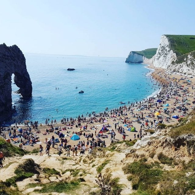 When the whole country is here!! durdledoor dorset bankholidayweekend summer2017hellip
